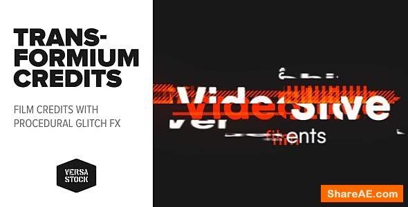 Videohive Transformium   Film Credits