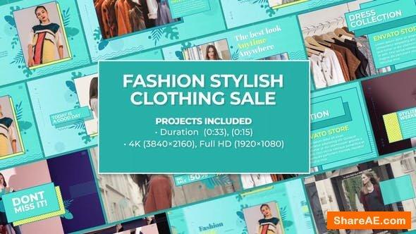 Videohive Trendy Memphis Fashion Stylish Clothing Sale