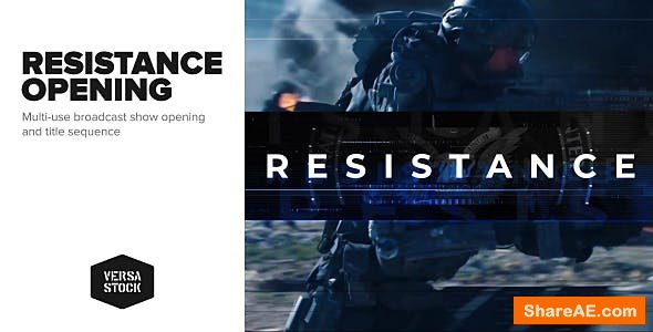 Videohive Resistance | Show Opening Title Sequence