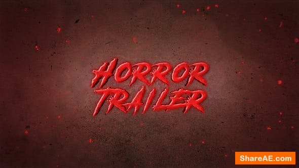 Videohive Horror Trailer