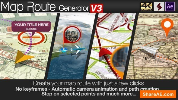 Videohive Map Route Generator