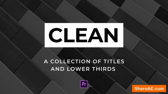 Videohive Clean Titles and Lower Thirds - For Premiere Pro