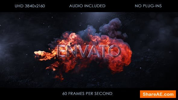 Videohive Fire Logo Intro 23733392