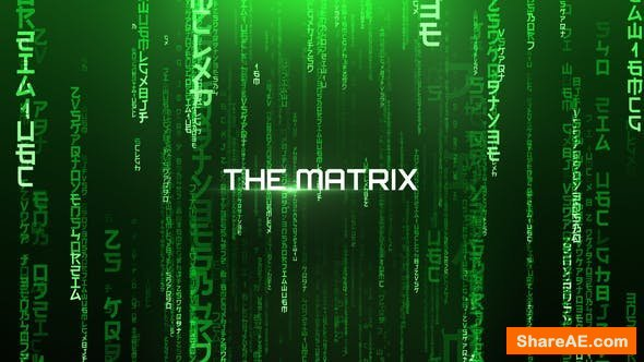 Videohive The Matrix - Cinematic Titles