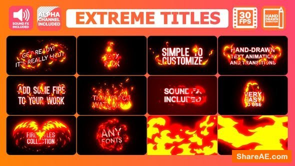 Videohive Extreme Titles | After Effects