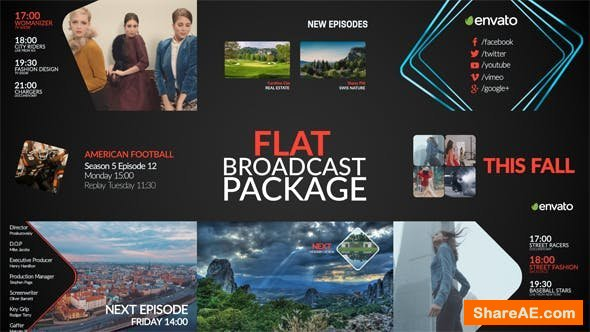 Videohive Flat Broadcast Package