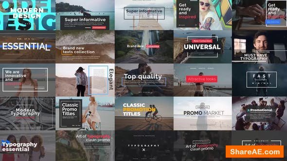Videohive Essential Titles V.2