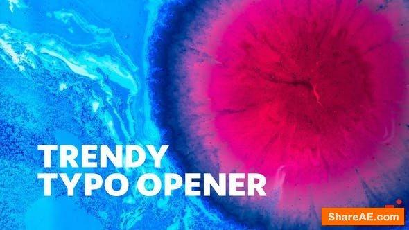 Videohive Trendy Typo Opener