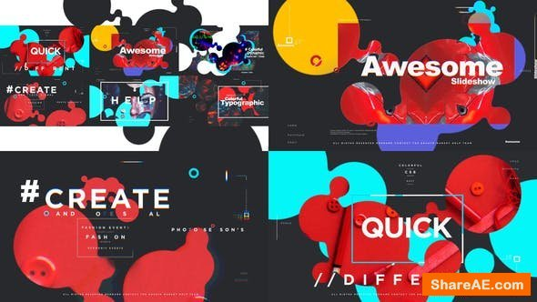 Videohive Colorful Typographic Promo