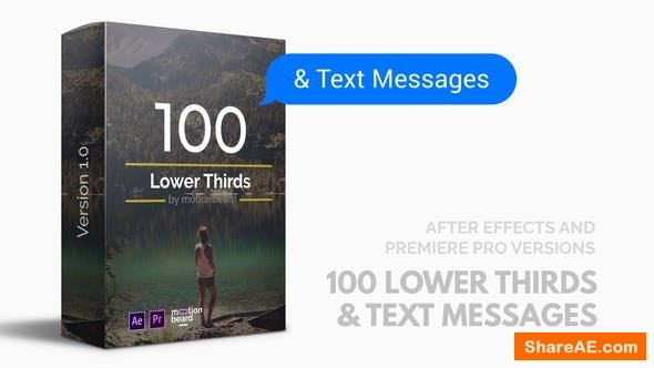 Videohive 100 Lower Thirds and Messages for Premiere Pro & After Effects