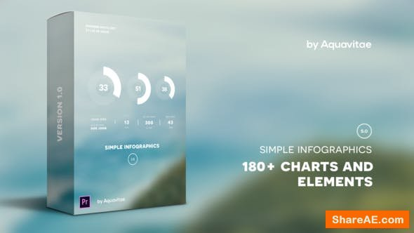 Videohive Simple Infographics I MOGRT for Premiere Pro