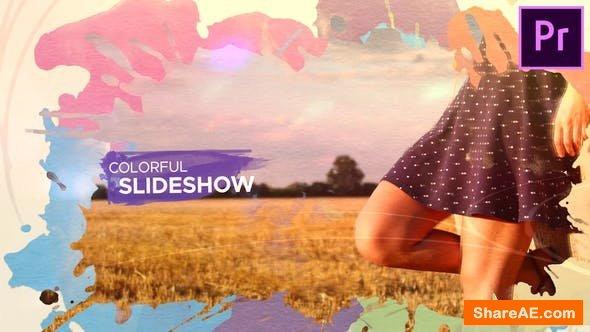 Videohive Watercolor Parallax Slideshow - Premiere Pro