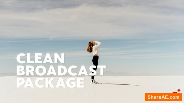 Videohive Clean Broadcast Package | Essential Graphics | Mogrt - Premiere Pro