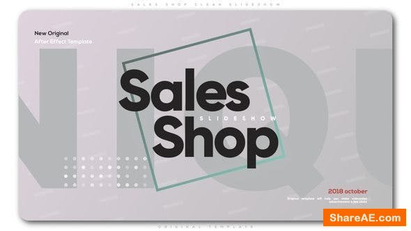 Videohive Sales Shop Clean Slideshow