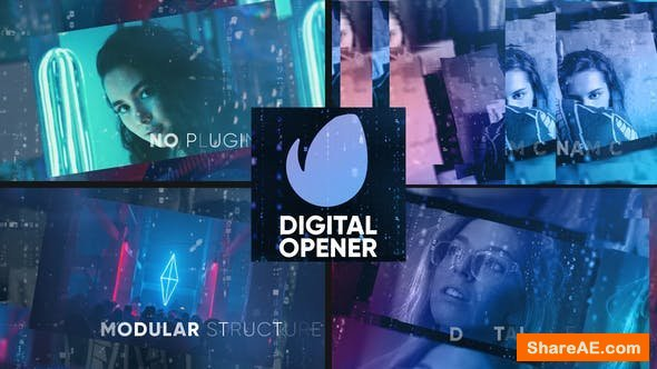 Videohive Digital Opener | Slideshow