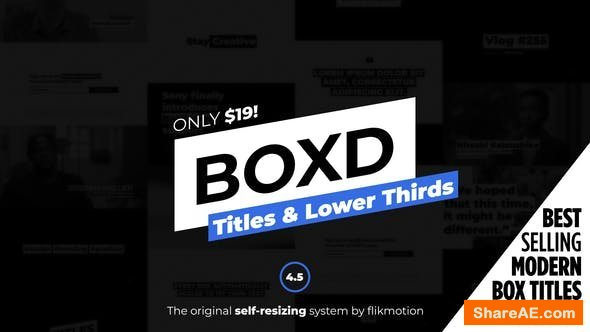 Videohive Titles and Lower Thirds v4.5