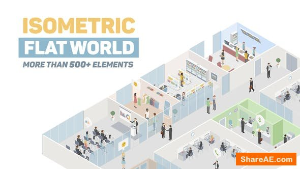 Videohive Isometric Flat World