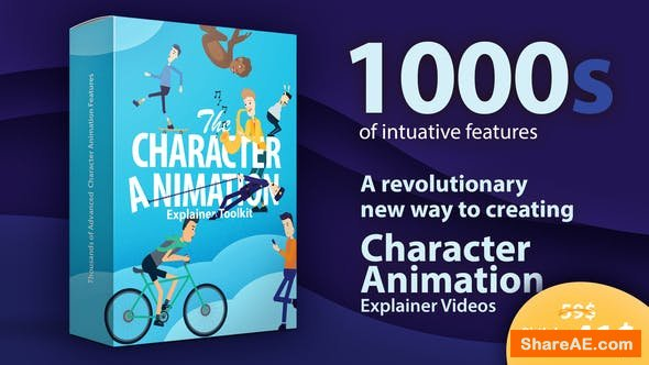 Videohive Character Animation Explainer Toolkit