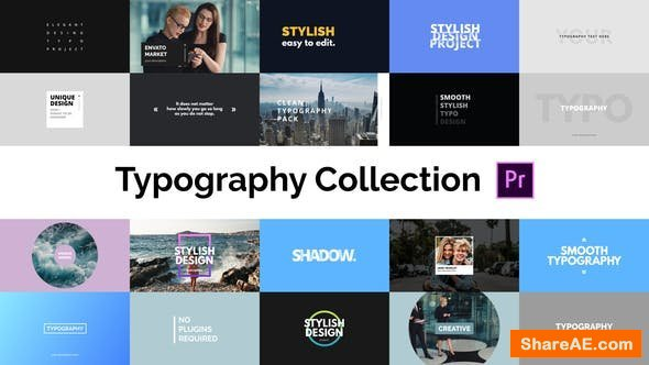 Videohive Typography Essential - For Premiere Pro