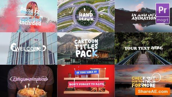 Videohive Cartoon Titles Pack | Premiere Pro MOGRT