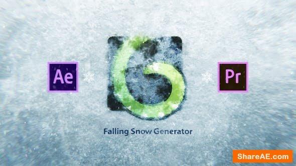 Videohive Snow Falling Generator