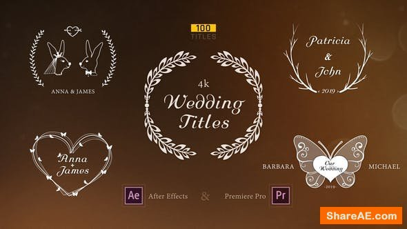 Videohive Wedding Titles 23506580