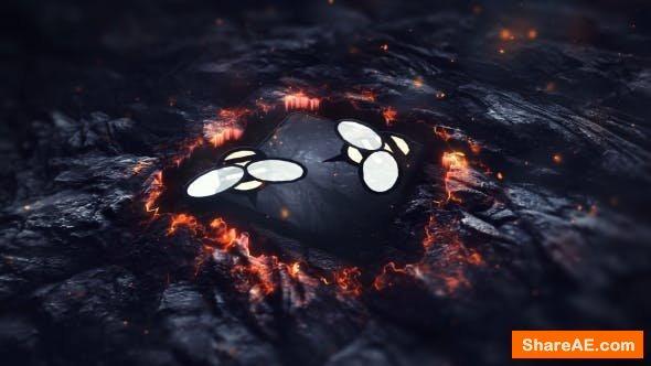 Videohive Fire Lava Logo