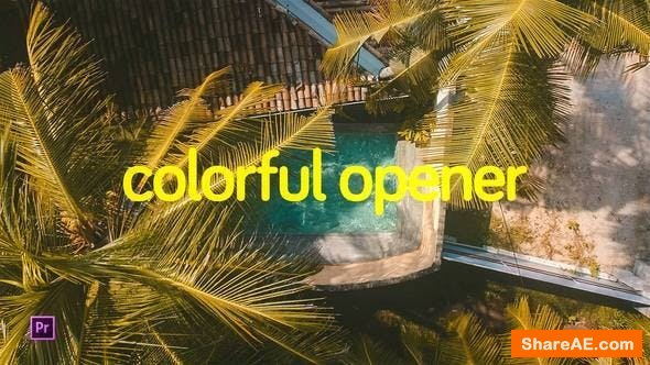 Videohive Colorful Opener for Premiere Pro