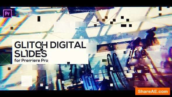 Videohive Glitch Digital Slides for Premiere Pro