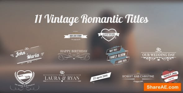 Videohive 11 Vintage Romantic Titles