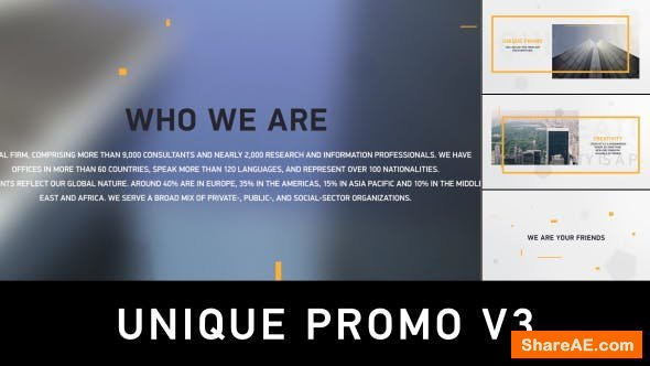 Videohive Unique Promo v3 | Corporate Presentation