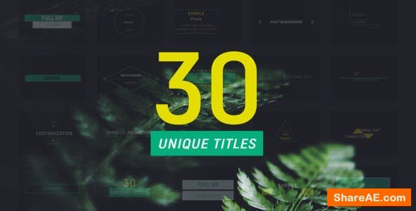 Videohive 30 Minimal Titles