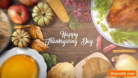 Videohive Thanksgiving Special Promo