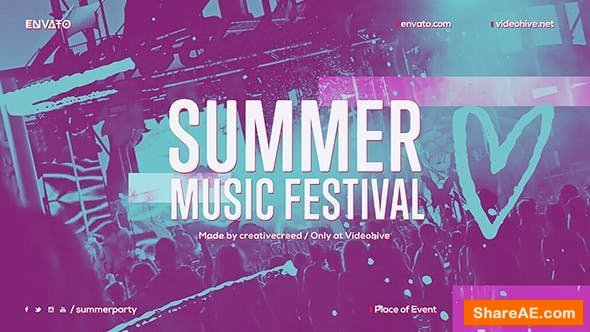 Videohive Summer Music Festival / Dance Event Promo / EDM Party Invitation / Night Club