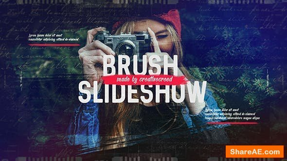 Videohive Brush Slideshow / Memories Photo Album / Family and Friends / Travel and Journey