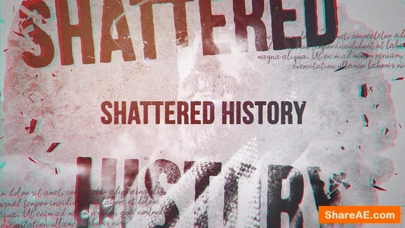 Videohive Shattered History