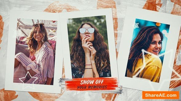 Videohive Summer Photo Slideshow - Happy Moments