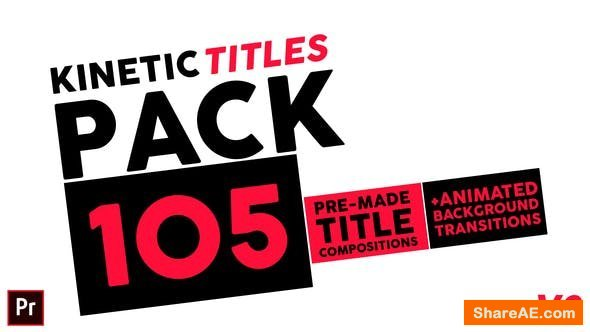 Videohive Kinetic Titles Pack - Premiere Pro