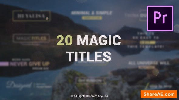Videohive Essential // Minimal Simple Titles Pack for Premiere Pro