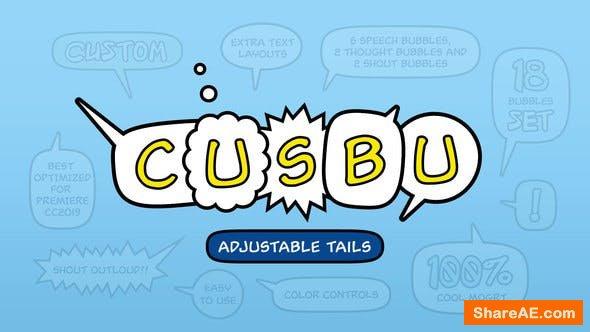 Videohive Adjustable Speech Bubbles - Premiere Pro