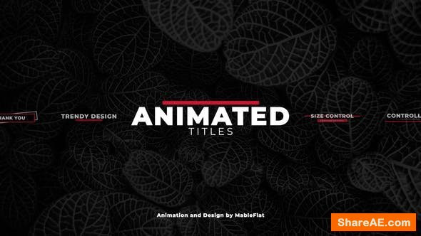 Videohive Animated Titles Pack - Premiere Pro