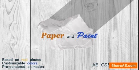 Videohive Paper Logo Reveal