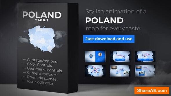 Videohive Poland Map - Republic of Poland Map Kit