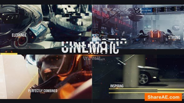 Videohive Epic Cinematic Glitch Trailer