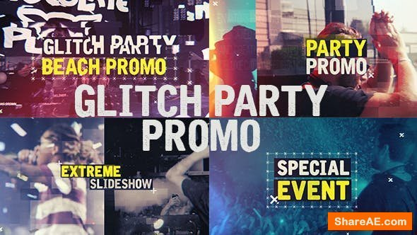 Videohive Glitch Party Promo
