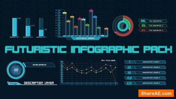 Videohive Futuristic Infographic Pack