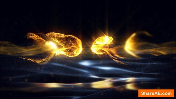 Videohive Gold Particles Logo