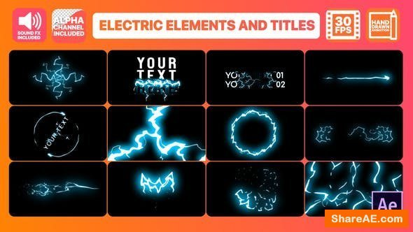 Videohive Cartoon Electricity And Titles | After Effects