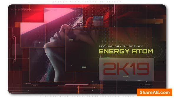 Videohive Energy Atom Techno Slideshow