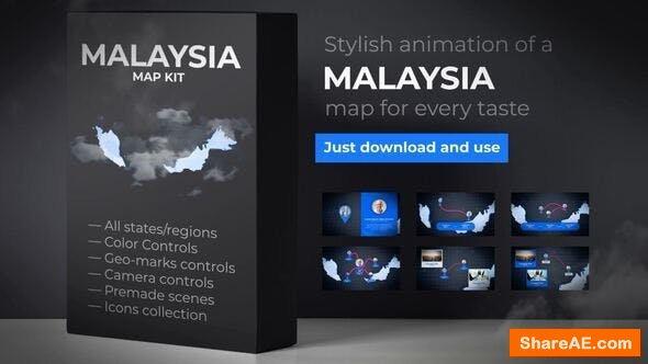 Videohive Malaysia Animated Map - Malaysia Map Kit